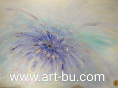Huge flower with violet swarovski crystal