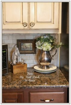 French Farmhouse DIY Kitchen Makeover with chalk paint From My Front Porch To Yours