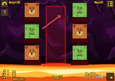 Play #TeddiesAndMonsters. Nice and polished physics shooting game, with cute theme. Save the teddies from monsters by shooting monsters into lava. 24 challenging levels to complete!