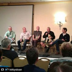 These guys are so funny. A great group. ----- #Repost @kirbysloan with @repostapp ・・・ Alan Siler, Jason Haigh-Ellery, Nick Briggs, Terry Molloy, and Paul McGann at the Opening Ceremony at TimeGate #timegate2016 #timegate #doctorwho