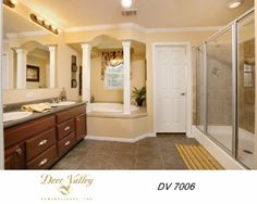 Walk in shower for those quick mornings and a big tub to soak in on those long days