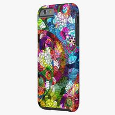 iPhone 6 Cases | Colorful Romantic Vintage Floral Pattern iPhone 6 Case