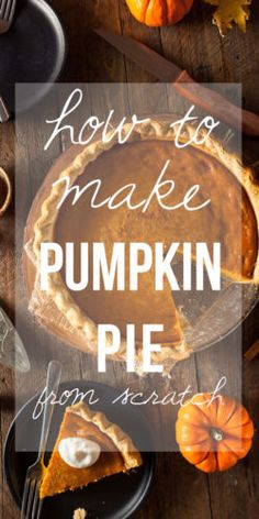 Learn HOW TO MAKE PUMPKIN PIE FROM SCRATCH. Pumpkin pies was not always made from a can of pumpkin. There is an even more old-fashioned way to make this pie, and I am here to tell you, it is VERY much worth the effort! Pumpkin Recipes, Pie Recipes, Sweet Recipes, Real Food Recipes, Pumpkin Pies, Cooking Recipes, Yummy Recipes, Thanksgiving Recipes, Fall Recipes