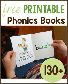 Get over 130 free phonics books to print for your early reader!