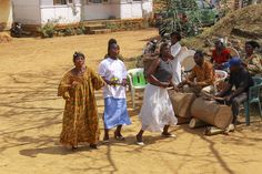 Celebrating - Celebration at the Chiefdom of Nkongzok, Cameroon