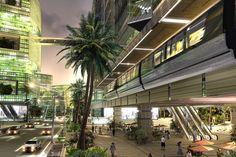 hiperstudio + estudio arkiz: aliah hotel in sao paulo Futuristic Architecture, Architecture Design, Atrium Design, Contemporary Museum, Hotel Concept, Green Office, Centre Commercial, Landscape Design, Sustainability