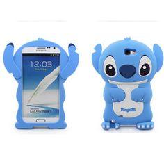 Lilo and Stitch 3D Soft Silicone Case Cover Samsung Galaxy N7100 Note 2 - Blue | eBay