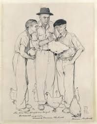 Image result for norman rockwell drawings