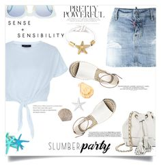 """""""Summer party"""" by fantasticbabe ❤ liked on Polyvore featuring Dsquared2, New Look, Rebecca Minkoff and Pierre Balmain"""