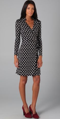 DVF's wrap dresses are flattering and timeless.