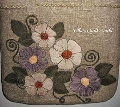 de Ulla Quilt Mundo: saco acolchoado applique, flores
