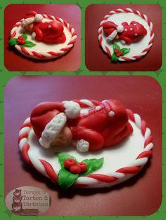 Nikolaus & Weihnachtsmann - Fondant Baby Santa Caketopper Tortenaufleger - ein Designerstück von Terzykstorten bei DaWanda