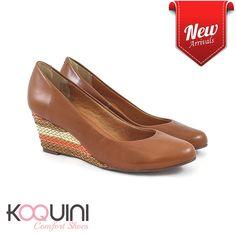 Muito confortável e na altura ideal pro dia a dia #koquini #comfortshoes #euquero #anabela Compre Online: http://koqu.in/2cqSgFk