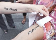 The United Way of Greater Cincinnati used these temporary tattoos for their kick-off.