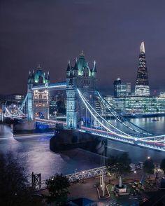 #London Poster . #UK City Lights At Night, Night City, London Bridge, London City, London Photography, Night Photography, London Poster, London Night, London Instagram