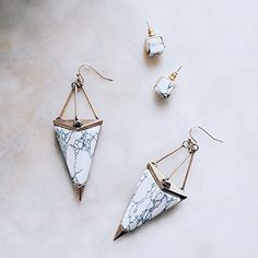 Beautiful Marble Drop Earrings - #picoftheday #fashionista #essentials -  22,90 € @happinessboutique.com