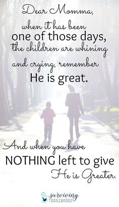 Dear Momma of Littles, Remember How Great He Is | Christian Motherhood | Mothering | Bible Study | Mom Life | Christian Parenting | Devotions | Self Care