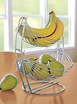 Double Tier Wire Basket - Banana and Fruit Hammock   Solutions