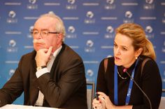 Total Chairman and Chief Executive Officer Christophe de Margerie and Cécile Maisonneuve, Director of the Center for Energy at Ifri