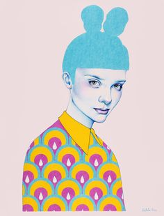 "<p>Norwegian freelance illustrator Natalie Foss primarily works with colored pencils, focusing on strong colors, portraits and emotions. ""I work mostly with color pencils and colored paper, with focus"