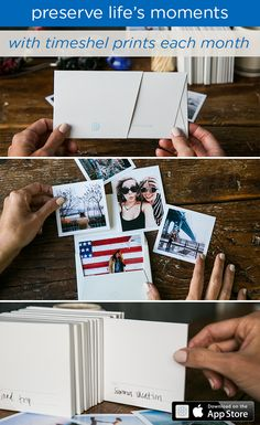 The perfect way to hold on to memories. Use the timeshel iOS app to receive beautiful prints each month- straight from your phone to your door.