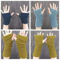 Ravelry: Gully Gloves pattern by Kelly McClure Crochet Arm Warmers, Crochet Mittens, Crochet Gloves, Wrist Warmers, Crochet Yarn, Hand Warmers, Loom Knitting, Knitting Patterns, Sewing Collars