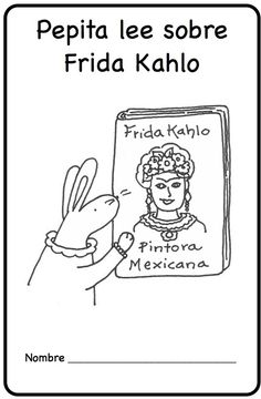 Spanish Printable Minibook about Frida Kahlo's life in simple sentences for young learners. Perfect for elementary or middle school! Mundo de Pepita, Resources for Teaching Spanish to Children