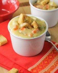 Chicken Pot Pie Soup- use GF flour