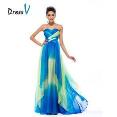 c314a44ca5ef Sizes 0-26W DressV elegant Floor Length Long Prom Dress A line Printed  Chiffon Sweetheart. Šaty Na Stužkovú