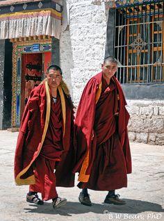 Tibet Sera Monastery Monks