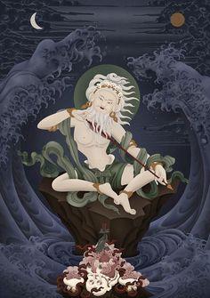Mahasiddha Saraha & the Mahamudra Tradition Tibetan Art, Tibetan Buddhism, Buddhist Art, Vajrayana Buddhism, Thangka Painting, Canvas Art, Canvas Prints, Spiritus, Thai Art