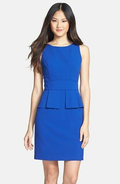 Vince Camuto Ruffled Peplum Sheath Dress available at #Nordstrom