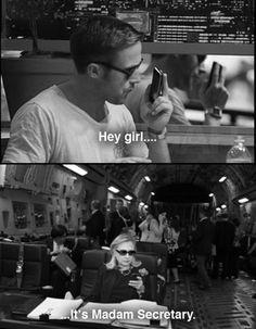 hillary texts ryan gosling.