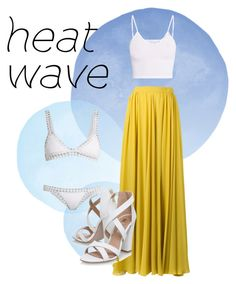 """""""Heat wave"""" by annabalint16 on Polyvore featuring kiini, Elie Saab, BasicGrey and Miss KG"""