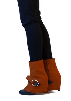 pepavanas, accessory for high heels. sledge style + ankle high model made of wool felt