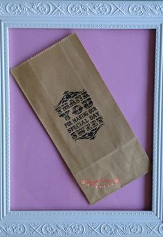 20 x Brown Paper Lolly Bags - 'Thank you for making our special day sweet' - Wedding, engagement candy bag