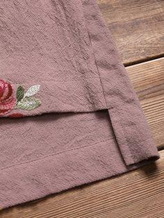 8ee8a868c Hot saleIrregular Floral Embroidered Pockets Short Sleeve Vintage Dresses  Cheap - NewChic Vintage Dresses Online,