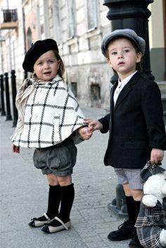 festliche kindermode schwarz-weiß
