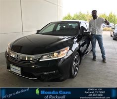 Congratulations Jeevan on your #Honda #Accord Sedan from Vincent Salazar at Honda Cars of Rockwall!  https://deliverymaxx.com/DealerReviews.aspx?DealerCode=VSDF  #HondaCarsofRockwall