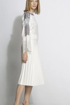 #aviu #ss14 #outfit  #sweater #paillettes #sequins #skirt #plisse