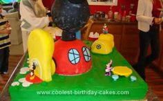 Homemade Mickey Mouse Birthday Cake: This Homemade Mickey Mouse Birthday Cake was the first cake I have ever made in any real form. I did bake my own wedding cake but I didn't ice or prepare