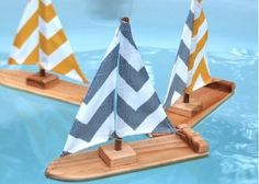 Cool homemade wooden sailboats -- perfect for an Easter basket goody or spring gift! Featured in the Tweet Toys Etsy shop.