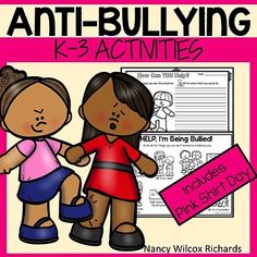 Anti-bullying and pink shirt day activities. No prep. It can also be used at any other time of the year! The activities will help raise awareness about the effects of bullying. Anti Bullying Lessons, Anti Bullying Activities, Teaching Reading, Teaching Kids, Learning, Drawing Activities, Activities For Kids, Winter Activities, Effects Of Bullying