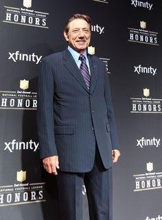 Hall of Fame quarterback Joe Namath arrives at the NFL Honors awards show at the Mahalia Jackson Theatre