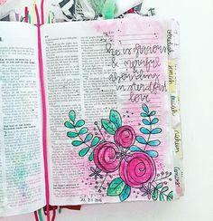 Bible Journaling by @kelsienoellee                                                                                                                                                     More
