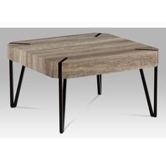 "Konferenční stolek, dub ""Canyon grey"" / černá matná - CAN Dining Bench, Canning, Grey, Furniture, Home Decor, Homemade Home Decor, Gray, Table Bench, Home Furnishings"