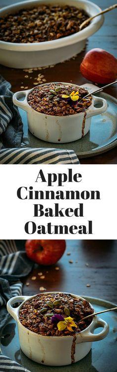 Apple Cinnamon Baked Oatmeal with no sugar added. #splendasavvies #ad