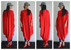 ASYMMETRIC viscose Top/ Tunic Dress/Raglan Long Sleeves Top /Red Long kaftan / Wear-anywhere top / maxi top / red long tunic by ClothesByLockerRoom on Etsy https://www.etsy.com/uk/listing/224024993/asymmetric-viscose-top-tunic-dressraglan