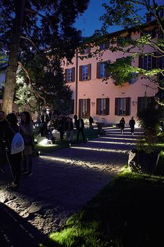 For Milan Design Week, Delta Light turned the surroundings of the historic Palazzo Crivelli into a monumental lighting installation. Brand new products were displayed in a conceptual setting, including designs by architects OMA, lighting designer Dean Skira and artist/designer Arik Levy. On top of that, a line-up of inspiring lectures and talks took place in the lush palazzo garden, including speakers like Snøhetta, CF Møller and AABE. Milan Design Week 2017, Delta Light, Light Installation, Lighting Design, Lush, Mansions, House Styles, Palazzo, Speakers