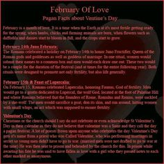 origins of valentine day a pagan festival in february